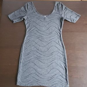 Textured grey bodycon dress